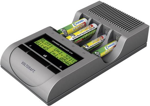 Batterijlader AAA (potlood), AA (penlite) - VOLTCRAFT Charge Manager CM410 Incl. oplaadbare batterijen