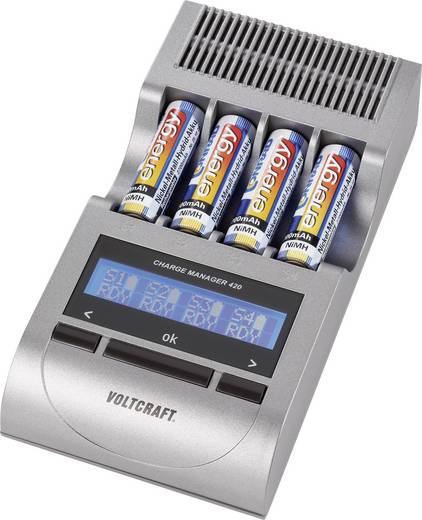 VOLTCRAFT Charge Manager CM420 Batterijlader NiCd, NiMH AAA (potlood), AA (penlite)