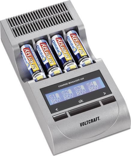 VOLTCRAFT CM 420 Batterijlader NiCd, NiMH Incl. oplaadbare batterijen AAA (potlood), AA (penlite)