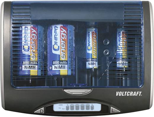 VOLTCRAFT P-600 Batterijlader NiMH AAA (potlood), AA (penlite), C (baby), D (mono), 9 V (blok)