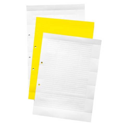 Klemmarkeerder ESO 15 BOGEN DIN A4 1636510000 Wit Weidmüller 10 stuks