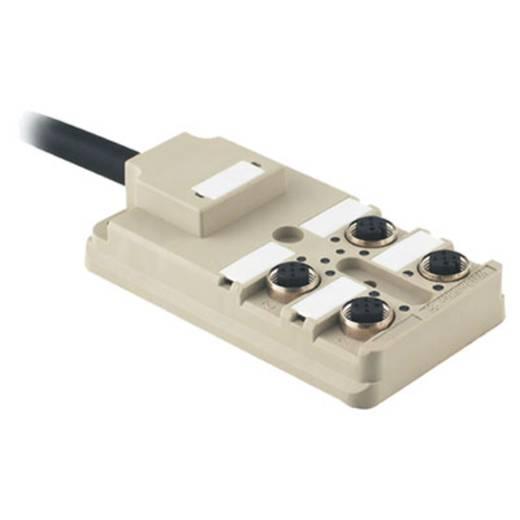 Passieve sensor-/actuatorverdeler SAI-4-F 4P M8 PUR 10M We