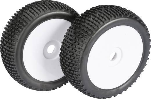 Absima 1:8 Buggy Complete wielen Block-Profiel Schijf Wit 1 paar