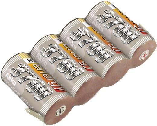 NiMH ontvangeraccu 4.8 V 3700 mAh Conrad energy Side by Side Met soldeeroog