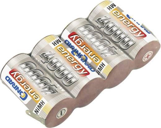 NiMH ontvangeraccu 4.8 V 4000 mAh Conrad energy Side by Side Met soldeeroog
