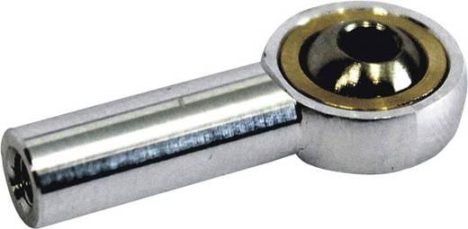 Aluminium Kogelkop met binnenschroefdraad M3 4 stuks