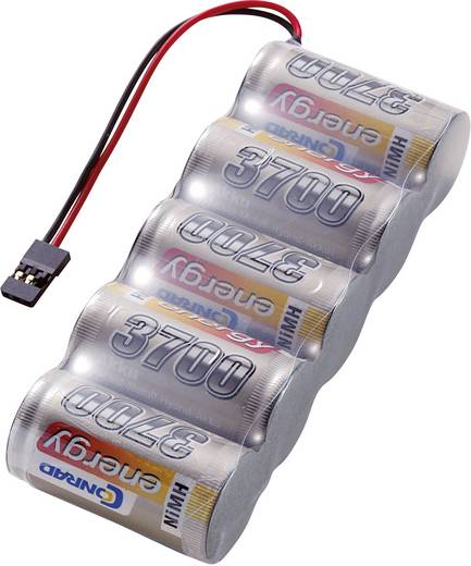 NiMH ontvangeraccu 6 V 3700 mAh Conrad energy Side by Side JR-bus