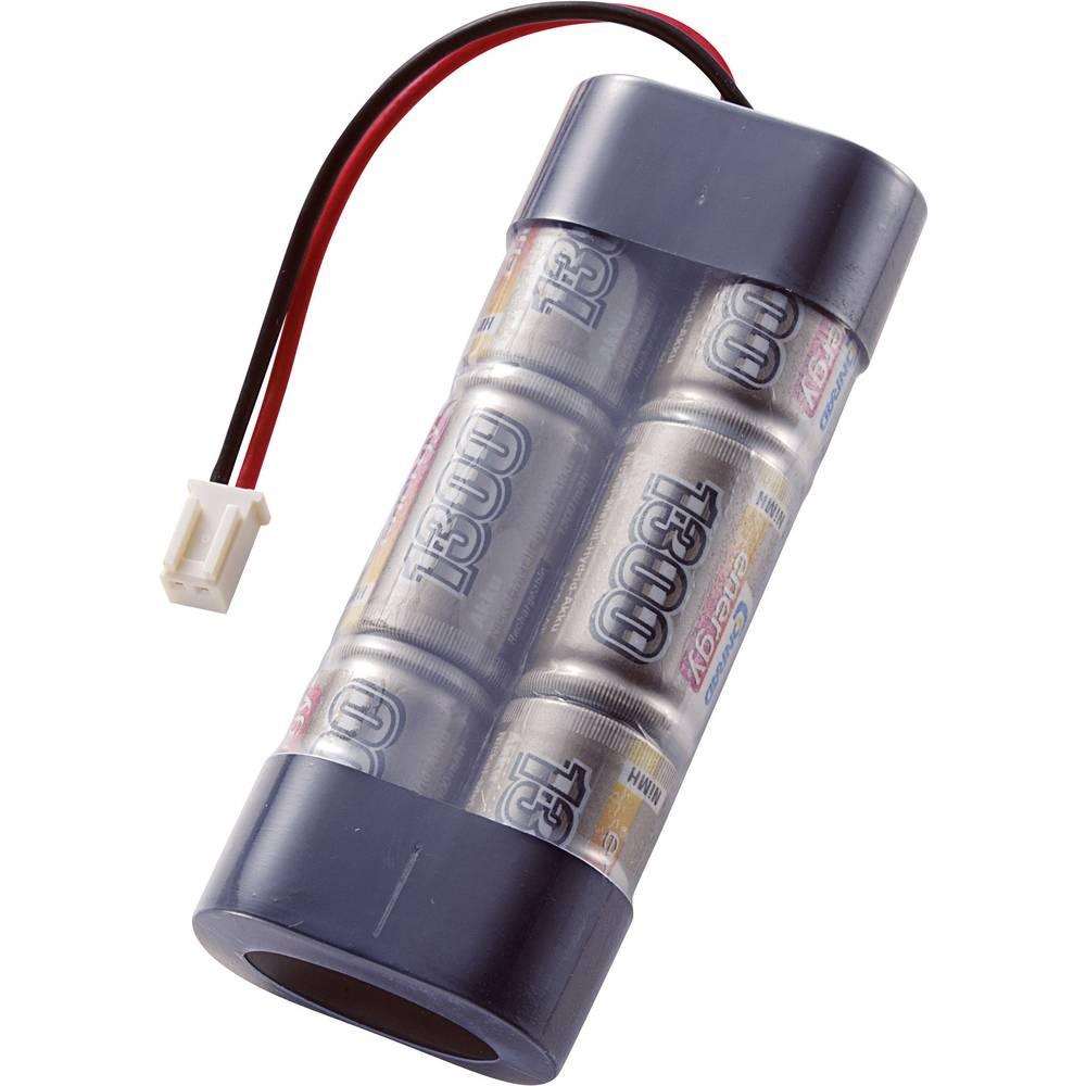 Conrad energy RC Batteripack (NiMh) 7.2 V 1300 mAh Antal celler: 6 Stick Micro-Car-anslutning