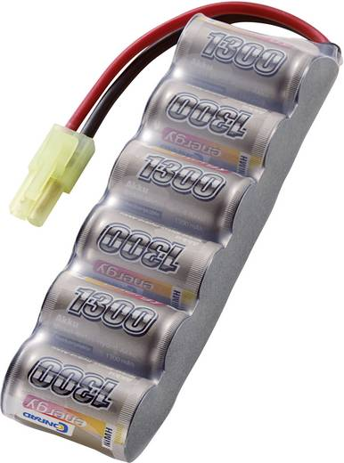 NiMH accupack 7.2 V 1300 mAh Conrad energy Side by Side Mini-Tamiya-stekker