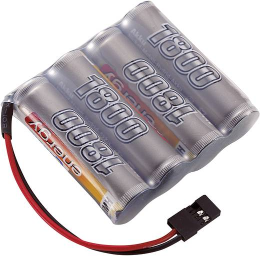 NiMH ontvangeraccu 4.8 V 1800 mAh Conrad energy Side by Side JR-bus