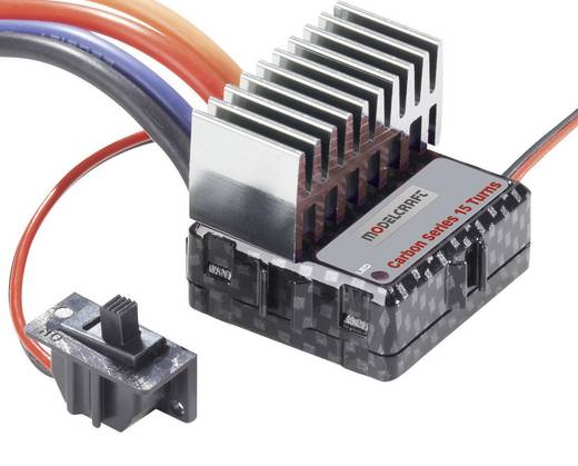 Modelcraft Carbon series snelheidsregelaar Belastbaarheid 106 A / 80 A / 75 A Motorlimiet 15 Turns