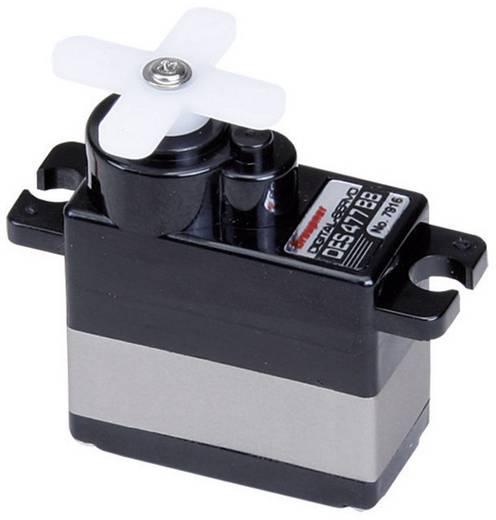 Graupner Mini-servo DES 477 BB Digitale servo Materiaal (aandrijving): Carbon Stekkersysteem: JR