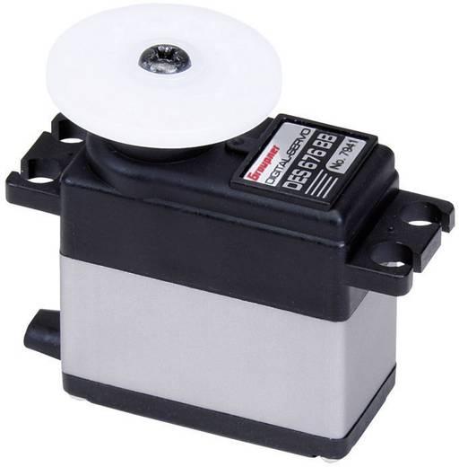 Graupner Midi-servo DES 676 BB Digitale servo Materiaal (aandrijving): Carbon Stekkersysteem: JR