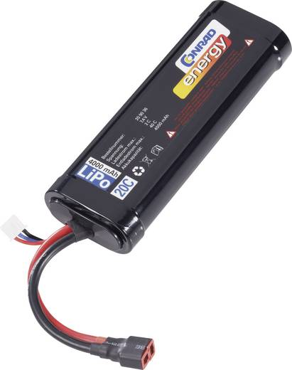 LiPo accupack 7.4 V 4000 mAh 20 C Conrad energy Stick hardcase T-bussen