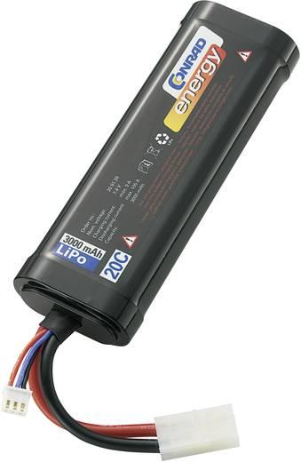 LiPo accupack 7.4 V 3000 mAh 20 C Conrad energy Stick hardcase Tamiya-stekker