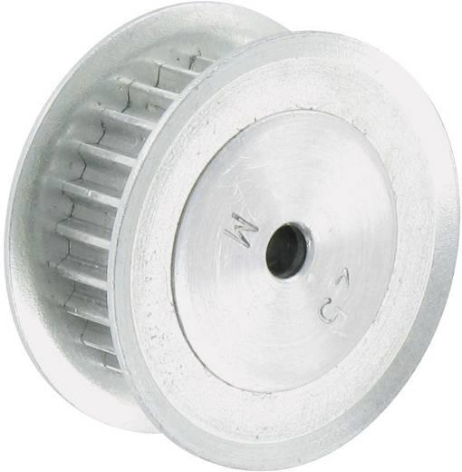 Reely Aluminium Tandriemschijf Boordiameter: 4 mm Diameter: 20 mm Aantal tanden: 20