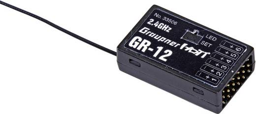 6-kanaals ontvanger Graupner GR-12 2,4 GHz S