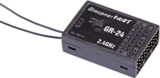 Graupner 33512 12-kanaals ontvanger 2,4 GHz Stekkersysteem JR