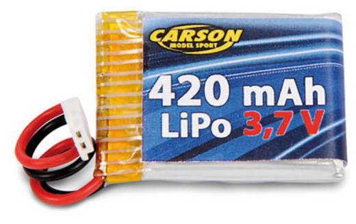 LiPo accupack 3.7 V 420 mAh Carson Modellsport Kabelschoen