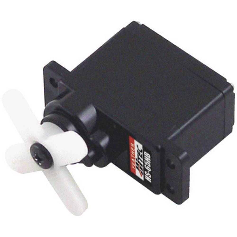 Hitec Mini-Servo HS-65HB Analog-servo Transmissionsmaterial: Karbonit Instickssystem: JR