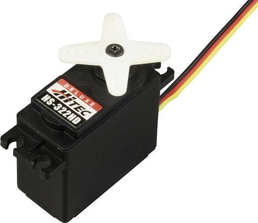 Hitec Standaard servo 322HD Analoge servo Materiaal (aandrijving): Karbonite Stekkersysteem: JR