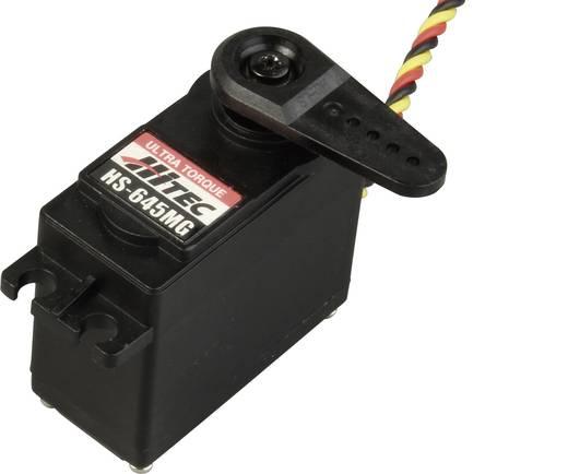 Hitec Standaard servo HS-645MG Analoge servo Materiaal (aandrijving): Metaal Stekkersysteem: JR