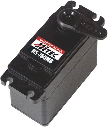 Hitec Speciale servo HS-755MG Analoge servo Materiaal (aandrijving): Metaal Stekkersysteem: JR