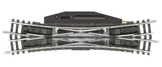 N Minitrix rails T14960 Engels wissel, Elektromechanisch 129.8 mm