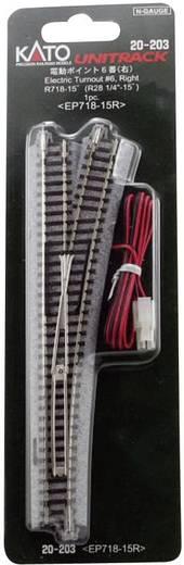N Kato Unitrack 7078201 Wissel, Elektrisch, Rechts 186 mm