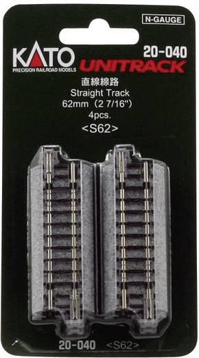N Kato Unitrack 7078011 Aansluitrails 62 mm