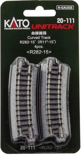 N Kato Unitrack 7078102 Gebogen rails 15 ° 282 mm
