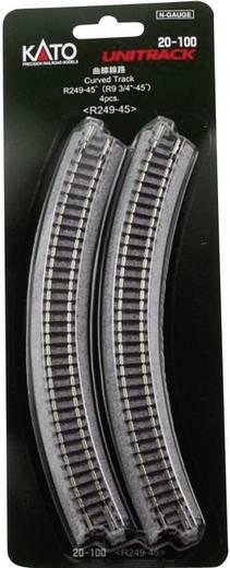 N Kato Unitrack 7078100 Gebogen rails 45 ° 249 mm