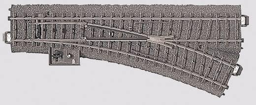 H0 Märklin C-rails (met ballastbed) 24612 Wissel, Rechts 24.3 ° Met handbediening 188.3 mm