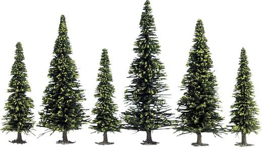 Set bomen Spar Hoogte (min.): 60 mm Hoogte (max.): 150 mm NOCH 26325 Donkergroen 25 stuks