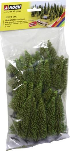 Set bomen Spar Hoogte (min.): 40 mm Hoogte (max.): 100 mm NOCH 32525 Donkergroen 25 stuks
