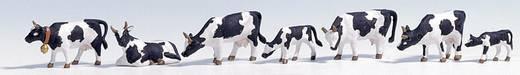 NOCH 15721 H0 figuren zwartbonte koeien (zwart/wit)