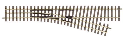 H0e Tillig smalspoorrails 85181 Aftakking, Rechts 228 mm