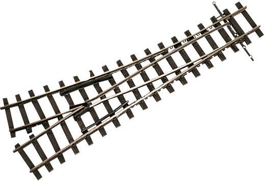 H0e Tillig smalspoorrails 85637 Wissel, Rechts 128 mm