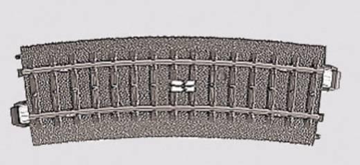 H0 Märklin C-rails (met ballastbed) 24294 Schakelrails, Gebogen