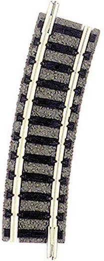 N Fleischmann Piccolo (met ballastbed) 9127 Gebogen rails 15 ° 225.6 mm