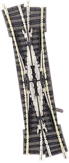 N Fleischmann Piccolo (met ballastbed) 9184 Engelse wissel, Links 111 mm