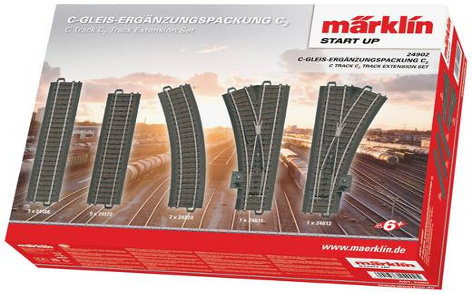 H0 Märklin C-rails (met ballastbed) 24902 Uitbreidingsset