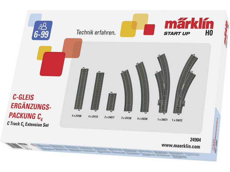 Märklin Start up rails 24904 H0 C4 (1 set)