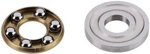 Reely Groefkogellager, axiaal Chroomstaal Binnendiameter: 4 mm Buitendiameter: 12 mm Toerental (max.): 13000 omw/min