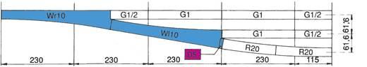 H0 Roco RocoLine (zonder ballastbed) 42489 Wissel, Rechts 345 mm