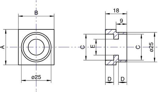 Modelcraft dubbellagerblok voor kogellagers 22 mm