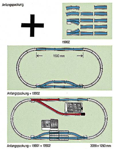 "LGB 19902 G railsuitbreidingsset ""station"" (19902)"