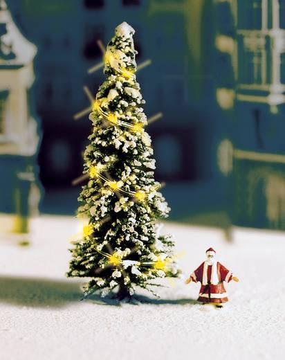 NOCH 33910 N witte, verlichte kerstboom met kerstman Hoogte:50 mm