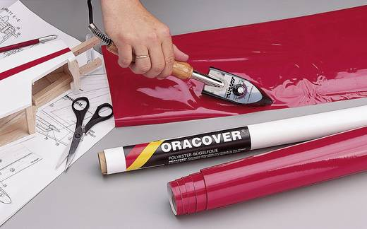 Strijkfolie Oracover 21-026-002 (l x b) 2 m x 60 cm Rood (transparant-fluorescerend)