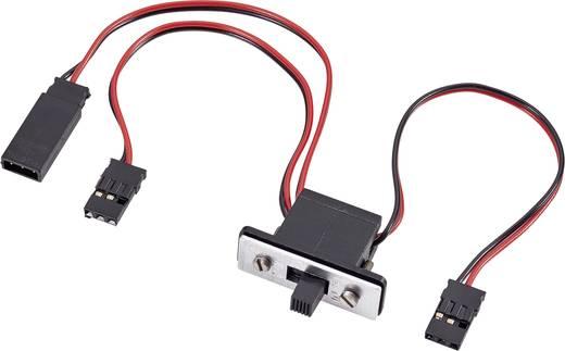 Standaard Aan/uit-schakelkabel [1x JR-stekker - 1x JR-bus] 0.14 mm² Met laadbus Modelcraft